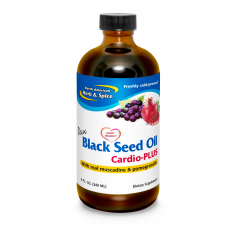 Black Seed Oil 8oz Front Label